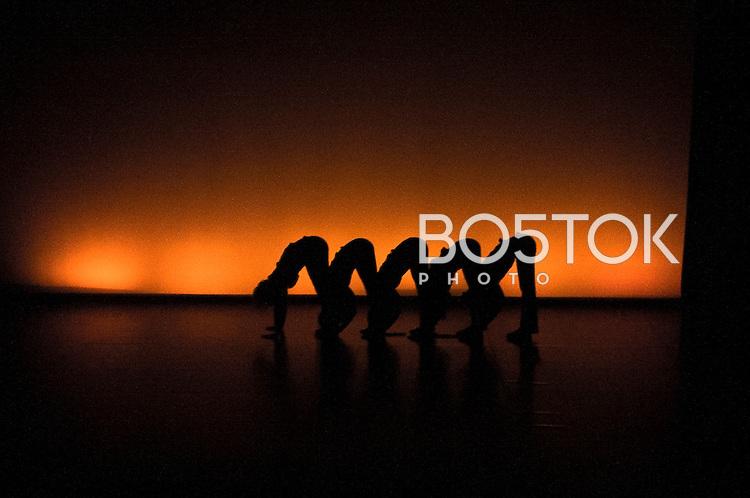 """Eneritz Zeberio, contemporary dancer of Ondarru, has presented a 25-minute piece named """"ON"""", in the """"Sortutakoak"""" Dancing Festival at the  Gazteszena culture house, in Donostia's neighborhood of Egia, February 15, 2014,  Basque Country. """"Sortutakoak Jaialdia"""" is a festival around creation in dance projects supported by Dantzagunea. (Josu Trueba Leiva / Bostok Photo)"""