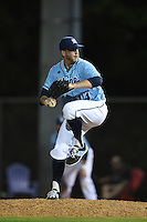 Maine Black Bears pitcher Jacob Gosselin-Deschesnes (14) during a game against the Ball State Cardinals on March 3, 2015 at North Charlotte Regional Park in Port Charlotte, Florida.  Ball State defeated Maine 8-7.  (Mike Janes/Four Seam Images)