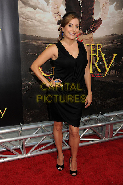 """Karyme Lozano.""""For Greater Glory"""" Los Angeles Premiere held at the AMPAS Samuel Goldwyn Theater, Beverly Hills, California, USA..May 31st, 2012.full length sleeveless dress hand on hip black  .CAP/ADM/BP.©Byron Purvis/AdMedia/Capital Pictures."""