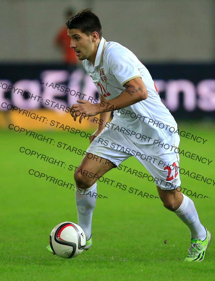 Fudbal<br /> Prijateljski mec-Friendly match<br /> Srbija v Grcka<br /> Aleksandar Mitrovic<br /> Chania, 17.11.2014.<br /> foto: Srdjan Stevanovic/Starsportphoto &copy;