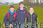 GAMES: Having a great time at the Boherbue-Cloghers-Manor community games at the Tralee Harriers athletic club on Friday l-r: Codi Dauti, Luke O'Carroll and Darragh Leen.