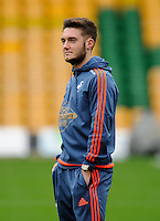 Matt Grimes of Swansea City during the Barclays Premier League match between Norwich City and Swansea City played at Carrow Road, Norwich on November 7th 2015
