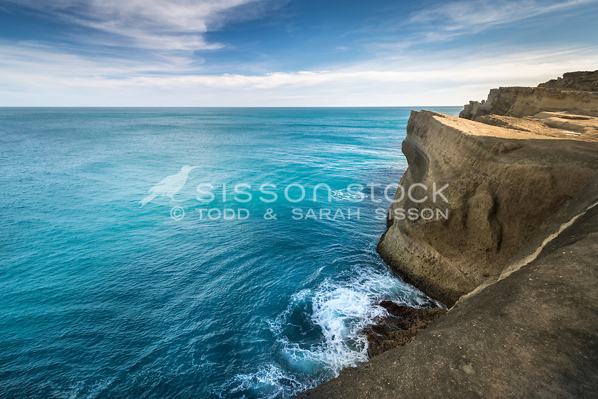 The limestone cliffs at Castlepoint, Wairarapa, New Zealand