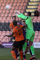 Grant Smith of Maidstone United punches clear under pressure during Barnet vs Maidstone United , Vanarama National League Football at the Hive Stadium on 3rd November 2018