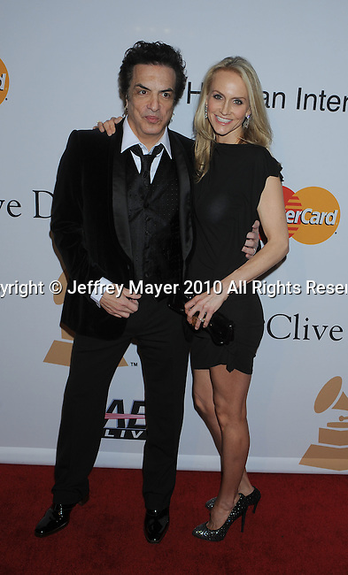 BEVERLY HILLS, CA. - January 30: Paul Stanley and wife Erin Sutton arrive at the 52nd Annual GRAMMY Awards - Salute To Icons Honoring Doug Morris held at The Beverly Hilton Hotel on January 30, 2010 in Beverly Hills, California.