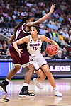 DALLAS, TX - MARCH 31:  Gabby Williams #15 of the Connecticut Huskies drives to the basket during the 2017 Women's Final Four at American Airlines Center on March 31, 2017 in Dallas, Texas. (Photo by Justin Tafoya/NCAA Photos via Getty Images)