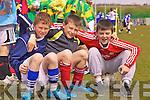 Buddy's Jack Landers, Jason O'Sullivan & Shane Coffey from Cahersiveen enjoying the day out in St Brendans Park at the FAI run 5 a-side soccer blitz on Thursday last.
