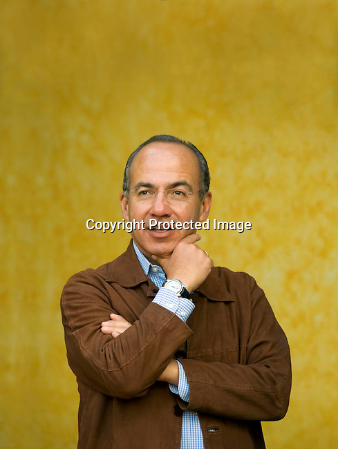 Portrait of President Felipe Calderon of Mexico for PBS Royal Tour Series.