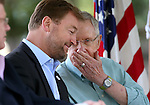 U.S. Senators Dean Heller, left, and Harry Reid talk during the 18th annual Lake Tahoe Summit at the Valhalla Estate in South Lake Tahoe, Ca., on Tuesday, Aug. 19, 2014. The event, which attracts government officials, scientists and educational and environmental agencies from California and Nevada, helps focus on environmental issues key to the preservation of the Lake Tahoe basin. (Las Vegas Review-Journal/Cathleen Allison)