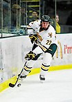 26 November 2010: University of Vermont Catamount forward Josh Burrows, a Senior from Prairie Grove, IL, in action against the Northeastern University Huskies at Gutterson Fieldhouse in Burlington, Vermont. The Huskies came back from a 2-0 deficit to earn a 2-2 tie against the Catamounts. Mandatory Credit: Ed Wolfstein Photo