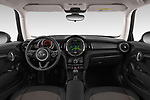 Stock photo of straight dashboard view of a 2019 Mini MINI One 3 Door Hatchback