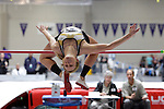12 MAR 2011: Katie Schoen of Nebraska Wesleyan high jumps during the Division III Men's and Women's Indoor Track and Field Championships held at the Capital Center Fieldhouse on the Capital University campus in Columbus, OH.  Jay LaPrete/NCAA Photos