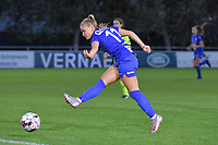 Gent's forward Imani Prez (11) pictured during a female soccer game between  AA Gent Ladies and Eendracht Aalst on the second matchday of the 2020 - 2021 season of Belgian Scooore Womens SuperLeague , friday 4 th of september 2020  in Oostakker , Belgium . PHOTO SPORTPIX.BE | SPP | STIJN AUDOOREN
