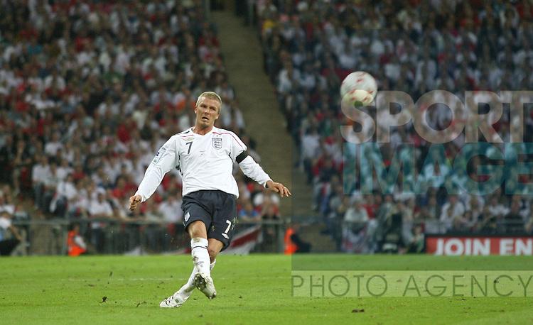 England's David Beckham delivers the cross from John Terry scored from against Brazil..International Friendly..England v Brazil..1st June, 2007..--------------------..Sportimage +44 7980659747..admin@sportimage.co.uk..http://www.sportimage.co.uk/
