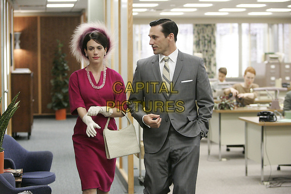 MAGGIE SIFF, JON HAMM<br /> in Mad Men (Season 1)<br /> *Filmstill - Editorial Use Only*<br /> CAP/FB<br /> Image supplied by Capital Pictures