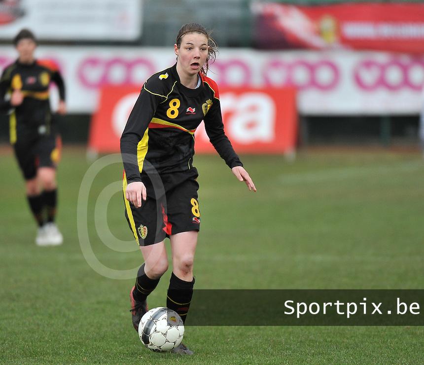 Russia U19 - Belgium U19 : Nicky Van den Abbeele.foto DAVID CATRY / Nikonpro.be