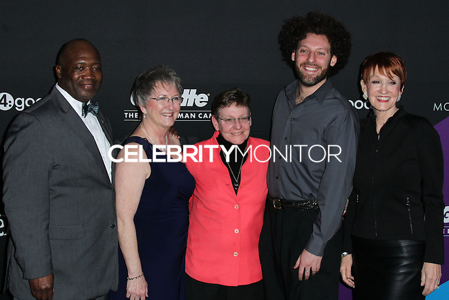 CULVER CITY, LOS ANGELES, CA, USA - FEBRUARY 27: Dr. Flint Fowler, Chery Jamason, Jane Hoffman, David Schwartz, Kathy Eldon at the 1st Annual unite4:humanity Presented by unite4:good and Variety held at Sony Pictures Studios on February 27, 2014 in Culver City, Los Angeles, California, United States. (Photo by Xavier Collin/Celebrity Monitor)