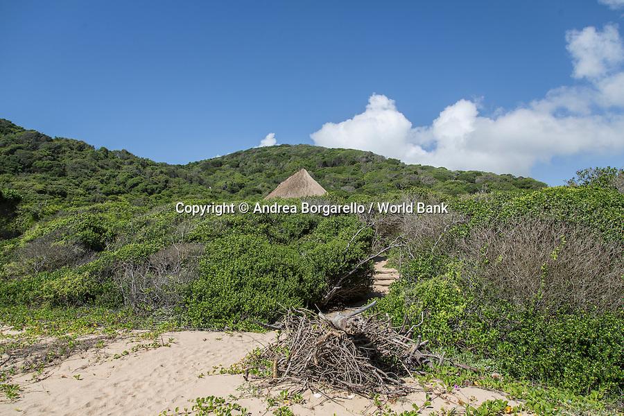 Marine Reserve of Ponta do Ouro.<br /> Maputo province, Mozambique.<br /> Touristic complex.