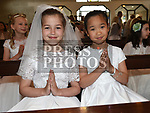 Summer Martin and Annie Hol from Donacarney school who recieved first holy communion in the Star of the Sea church Mornington. Photo:Colin Bell/pressphotos.ie
