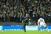 1st November 2017, Wembley Stadium, London, England; UEFA Champions League, Tottenham Hotspur versus Real Madrid; Sergio Ramos of Real Madrid put under pressure by Dele Alli of Tottenham Hotspur
