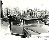 The funerals of Saydie Bronfman, March 28, 1980<br /> <br /> PHOTO : Agence Quebec Presse