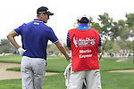 Martin Kaymer and his caddy wait to play his 2nd shot on the 10th hole during Day 2 Friday of the Abu Dhabi HSBC Golf Championship, 21st January 2011..(Picture Eoin Clarke/www.golffile.ie)