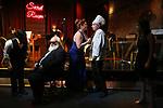 "Steve Tardio, John Guild, Cassie Nadeau, Eddie Varley and Lindsay Lavin during the Epress preview for ""Truffles: Music! Mushroom Murder!!!"" at Secret Room on November 15, 2019 in New York City."