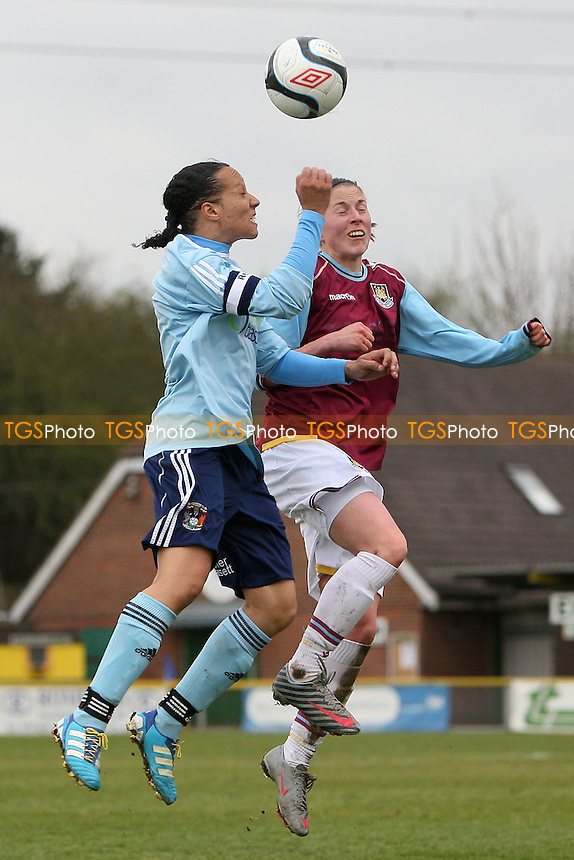 Gemma Shepherd in action for West Ham - West Ham United Ladies vs Coventry City Ladies - FA Womens Premier League Cup Quarter-Final at Ship Lane, Thurrock FC - 08/04/12 - MANDATORY CREDIT: Gavin Ellis/TGSPHOTO - Self billing applies where appropriate - 0845 094 6026 - contact@tgsphoto.co.uk - NO UNPAID USE.