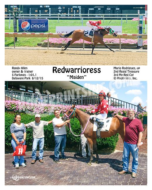 Redwarrioress winning at Delaware Park on 8/12/15
