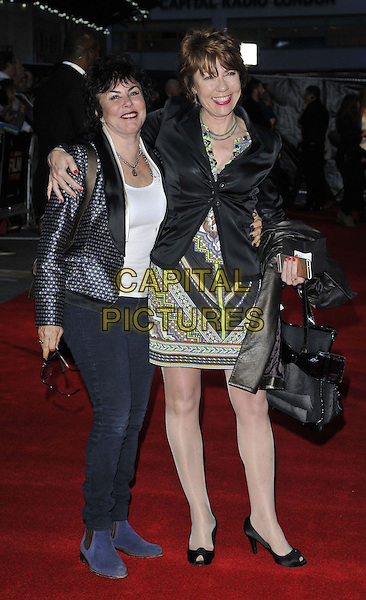 LONDON, ENGLAND - OCTOBER 17: Ruby Wax &amp; Kathy Lette attend the &quot;A Little Chaos&quot; Love gala screening, 58th LFF day 10, Odeon West End cinema, Leicester Square, on Friday October 17, 2014 in London, England, UK. <br /> CAP/CAN<br /> &copy;Can Nguyen/Capital Pictures