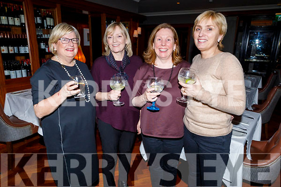 Jean Fitzgerald, Grainne Hynes, Marion Stafford and Sheila Nolan enjoying the evening in Ballygarry House Hotel on Friday.