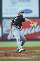 North Division pitcher Sam Hentges (23) of the Lynchburg Hillcats in action during the 2018 Carolina League All-Star Classic at Five County Stadium on June 19, 2018 in Zebulon, North Carolina. The South All-Stars defeated the North All-Stars 7-6.  (Brian Westerholt/Four Seam Images)