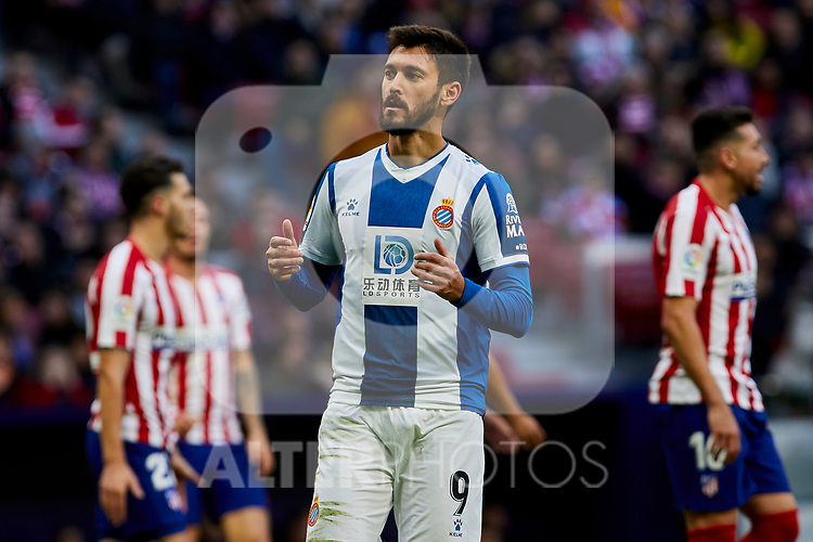 Facundo Ferreyra of RCD Espanyol during La Liga match between Atletico de Madrid and RCD Espanyol at Wanda Metropolitano Stadium in Madrid, Spain. November 10, 2019. (ALTERPHOTOS/A. Perez Meca)