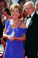 US TV show host and judge Judy Sheindlin and husband Jerry Sheindlin arrive at the 35th Annual Daytime Emmy Awards held at the Kodak Theatre in Los Angeles on June 20, 2008.