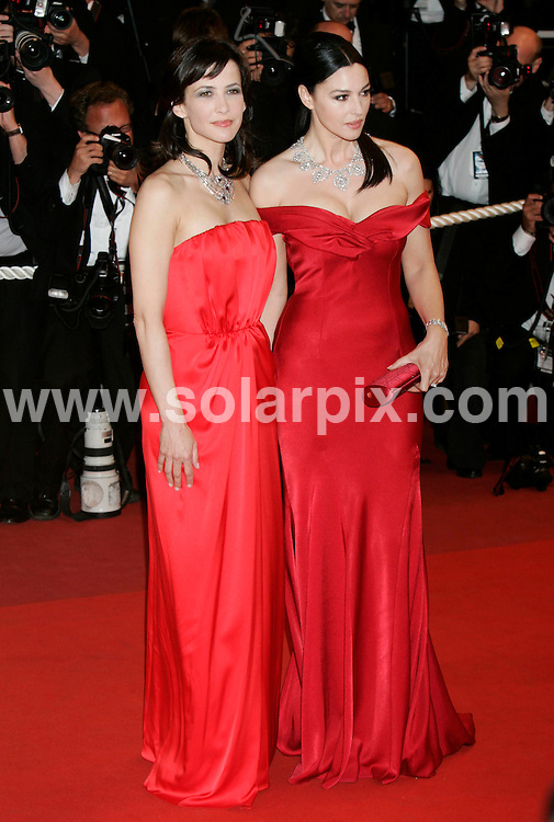 **ALL ROUND PICTURES FROM SOLARPIX.COM**.**SYNDICATION RIGHTS FOR UK AND SPAIN ONLY**.Monica Bellucci ,Sophie Marcau at the premeiere for the film Don't look back at The 62nd Cannes Film Festival in Cannes France...This pic:Monica Bellucci , Sophie Marcau..JOB REF:  9019        CPR/Heinz        DATE:.**MUST CREDIT SOLARPIX.COM OR DOUBLE FEE WILL BE CHARGED**.**ONLINE USAGE FEE GBP 50.00 PER PICTURE - NOTIFICATION OF USAGE TO PHOTO @ SOLARPIX.COM**.**CALL SOLARPIX : +34 952 811 768 or LOW RATE FROM UK 0844 617 7637**