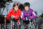 JIMMY DUFFY: The start of the the Jimmy Duffy Memorial Cycle in Blennerville on Saturday were Sinead Leahy and Helen Barrett