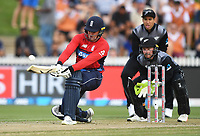 England's Jason Roy.<br /> New Zealand Black Caps v England.Tri-Series International Twenty20 cricket. Eden Park, Auckland, New Zealand. Sunday 18 February 2018. &copy; Copyright Photo: Andrew Cornaga / www.Photosport.nz