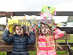 Ana gannon and Ellen French at the Easter Bonnnet competition at Newgrange Farm. Photo:Colin Bell/pressphotos.ie