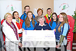 Killarney No Name Club members Dominika Dwizdzinska, Liam Morris, Pauline Filip, Jason Wright, Rachel Clifford and Chole Enright presented a cheque for €1,000 to Children of Chernobyl represented by Shiela Goulding and Mary O'Connell in the Streat Cafe, Scott's Street, Killarney last Friday night.