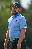 Tyrrell Hatton (ENG) reacts to his second shot from the trees on 12 land on the green during round 2 of the World Golf Championships, Mexico, Club De Golf Chapultepec, Mexico City, Mexico. 2/22/2019.<br /> Picture: Golffile | Ken Murray<br /> <br /> <br /> All photo usage must carry mandatory copyright credit (© Golffile | Ken Murray)