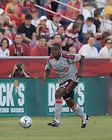 Toronto FC defender Nana Attakora (3) moves down the wing. Salt Lake Real defeated Toronto FC, 3-0, at Rio Tinto Stadium on June 27, 2009.