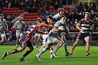 Kahn Fotuali'i of Bath Rugby runs in a try. European Rugby Challenge Cup match, between Bristol Rugby and Bath Rugby on January 13, 2017 at Ashton Gate Stadium in Bristol, England. Photo by: Patrick Khachfe / Onside Images