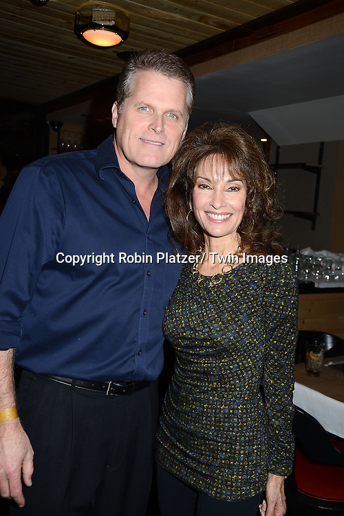 """Robert Newman and Susan Lucci  attends the Ricky Paull Goldin premiere party and fundraiser for his new HGTV show """"Spontaneous Construction"""" which will air on February 15, 2013. The party was on February 10, 2013 at Guy's American Kitchen in New York City."""