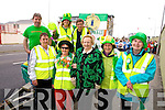 St. Patrick's Day Parade Tralee : Getting ready for the Parade  Tralee Tidy together members Front l-r Carmel Chawke, Joan O'Regan,  Mary O'Brien,  Patsy Barrett, Mary O'Shea, Back l-r Bernard Lynch, Maureen O'Brien, Brendan O'Brien