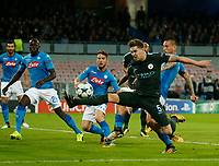 John Stones  during the Champions League Group  soccer match between SSC Napoli - Manchester City   at the Stadio San Paolo in Naples 01 nov 2017