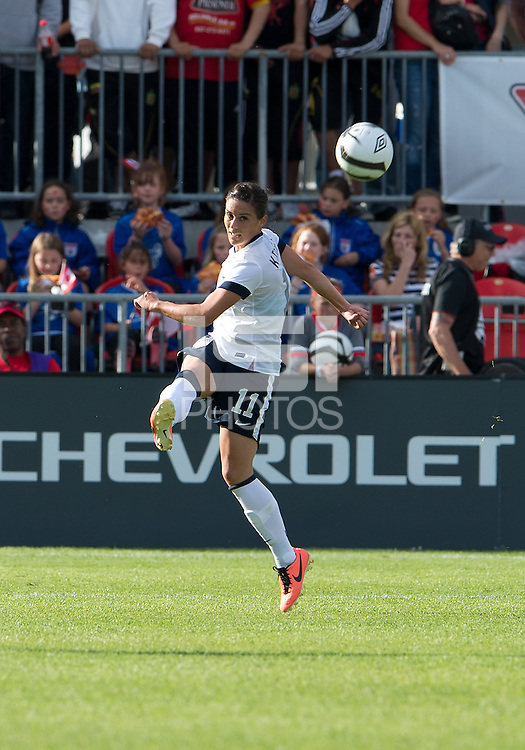 02 June 2013: U.S. Women's National Team defender Ali Krieger #11in action during an International Friendly soccer match between the U.S. Women's National Soccer Team and the Canadian Women's National Soccer Team at BMO Field in Toronto, Ontario.<br /> The U.S. Women's National Team Won 3-0.