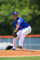 Kingsport Mets relief pitcher Yoryi Nuez (51) in action against the Greeneville Astros at Hunter Wright Stadium on July 7, 2015 in Kingsport, Tennessee.  The Mets defeated the Astros 6-4. (Brian Westerholt/Four Seam Images)