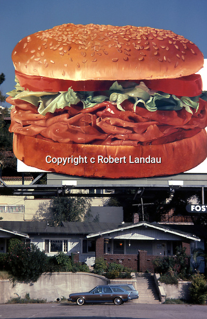 Arby's roast beef billboard, Hollywood, 1980
