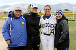 McKell Marble with coaches at the Sophomore Day celebration after the first game of the Western Nevada College softball doubleheader on Saturday, April 30, 2016 at Pete Livermore Sports Complex. Photo by Shannon Litz/Nevada Photo Source