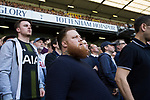 Tottenham Hotspur 4 Watford 0, 08/04/2017. White Hart Lane, Premier League. Supporters look on from the South Stand during the first-half as Tottenham Hotspur took on Watford in an English Premier League match at White Hart Lane. Spurs were due to make an announcement in April 2016 regarding when they would move out of their historic home and relocate to Wembley as their new stadium was completed. Spurs won this match 4-0 watched by a crowd of 31,706, a reduced attendance figure due to the ongoing ground redevelopment. Photo by Colin McPherson.